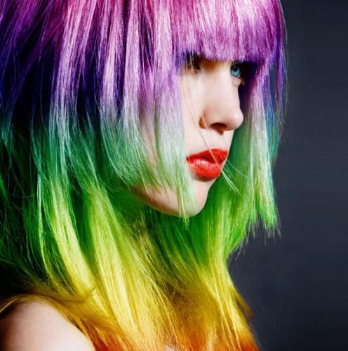 Неестественные цвета волос