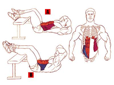 Упражнение - Скручивание