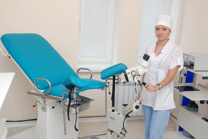 На приеме у гинеколога женщинами бальзаковского возраста