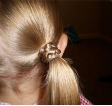 Детские прически фото хвостики