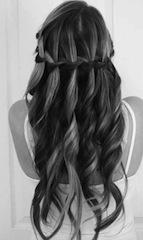 как заплести средние волосы коса водопад